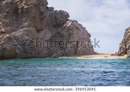 The Rock Formation of Land's End, Baja California Sur, Mexico, near Cabo San Lucas - stock photo