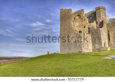 The Rock of Cashel  castle in Ireland - Hdr image. - stock photo