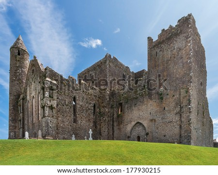 The Rock of Cashel,  the most visited Heritage site in Ireland. - stock photo