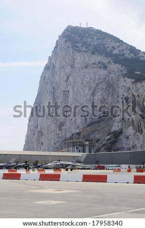 The rock of Gibraltar - stock photo