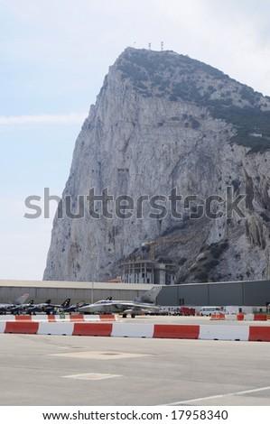 The rock of Gibraltar - stock photo