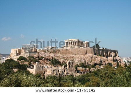 the rock of parthenon landmarks of athens greece