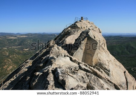 The rocky summit of Stonewall Peak. Cuyamaca Rancho State Park in San Diego, California