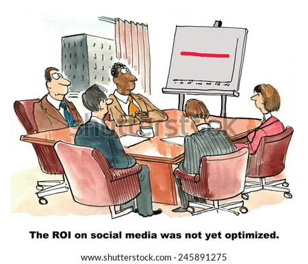 The ROI on social media was not yet optimized. - stock photo