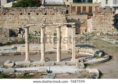 The Roman Agora - Athens, Greece - stock photo