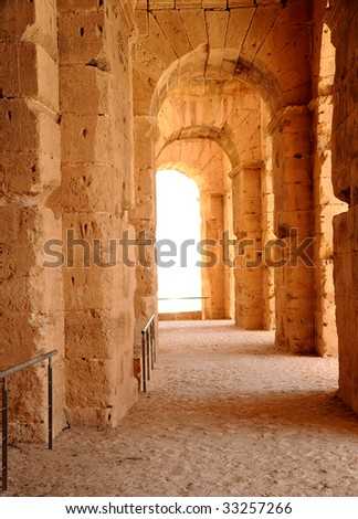 the Roman Amphitheatre of El Jem Tunisia