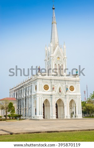 The Roman Catholic Church(The Nativity of Our Lady Cathedral), Samutsongkhram, Thailand. travel location, Thailand - stock photo
