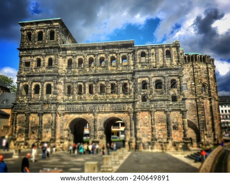 the roman Porta Nigra - Trier, Germany - stock photo