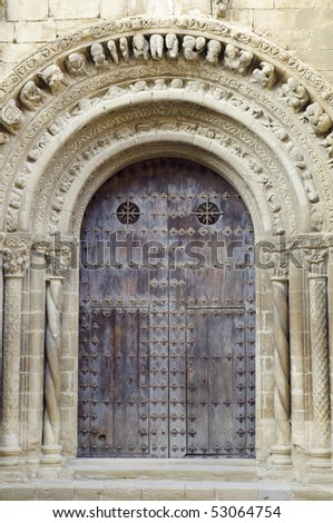 the Romanesque church of Santa Maria in Uncastillo, Spain