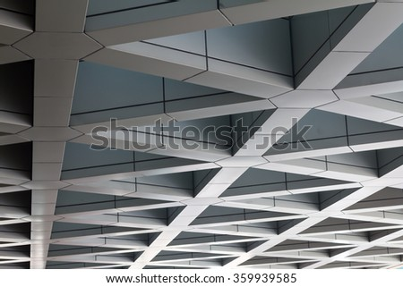 the roof of modern building.