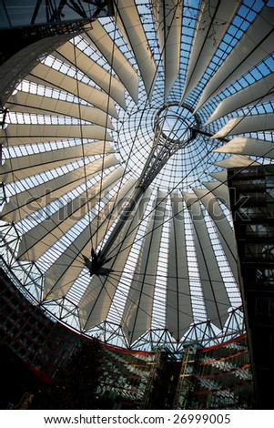 The roof of the Sony-Center in Berlin - stock photo