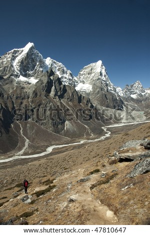 The Roof of the World - Solo Khumbu, Himalaya, Nepal, Ama Dablam in the background