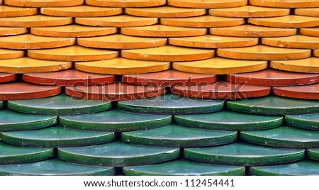 The roof tiles. - stock photo