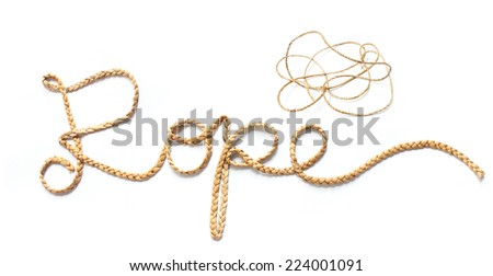 The rope (strings made of shredded banana stems; Product of banana tree)