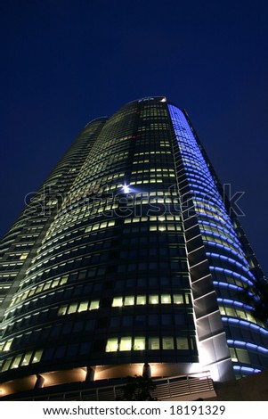 The Roppongi Hills office tower in Tokyo Japan, Symbolizing the 'new' the Tokyo of the 21st Century - stock photo