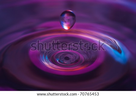 The round drop of water - stock photo