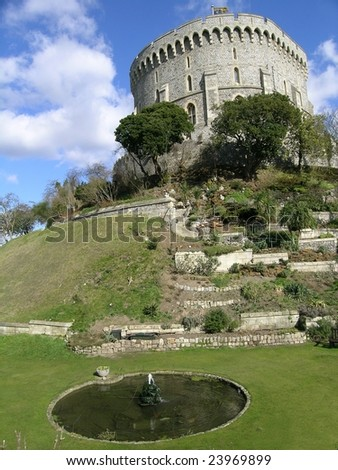 The Round Tower, Windsor Castle, England - stock photo