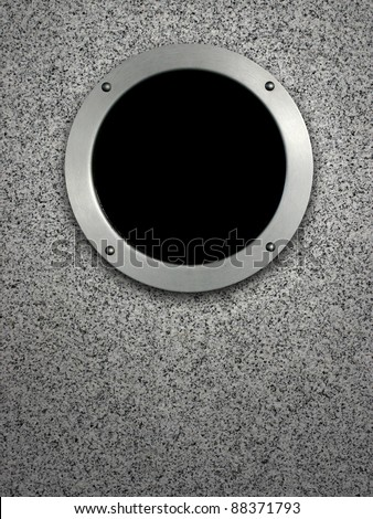 the round window - stock photo