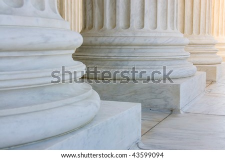 The row of classiclal columns - stock photo