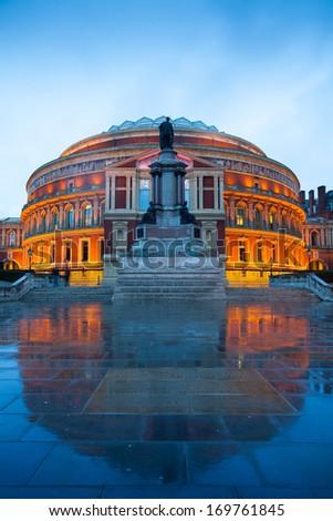 The Royal Albert Hall, Opera theater, in London, England, UK  - stock photo
