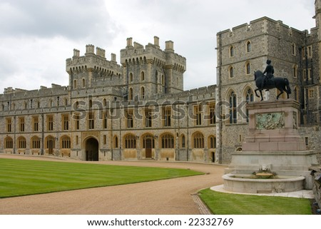 The Royal Apartments in Windsor Castle, UK - stock photo