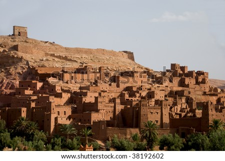 The Royal casbah near Sahara, Morocco - stock photo