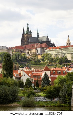 The royal castle in Prague - stock photo