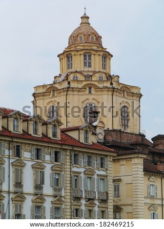 The royal church of san Lorenzo is a baroque style church in Turin in the north of Italy
