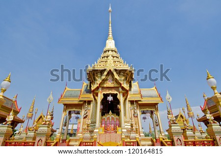 The royal crematorium in the royal cremation ceremony, Thailand.