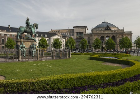 The Royal Danish Theatre, Copenhagen - stock photo