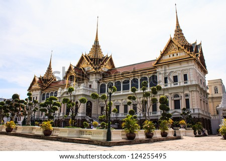 The Royal grand palace landmark of  Bangkok Thailand - stock photo