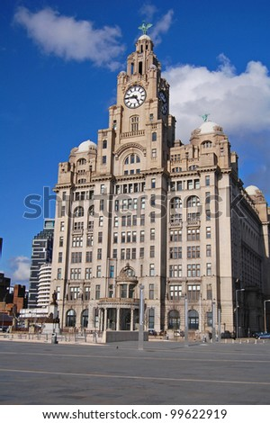 The Royal Liver Building, Liverpool, UK - stock photo