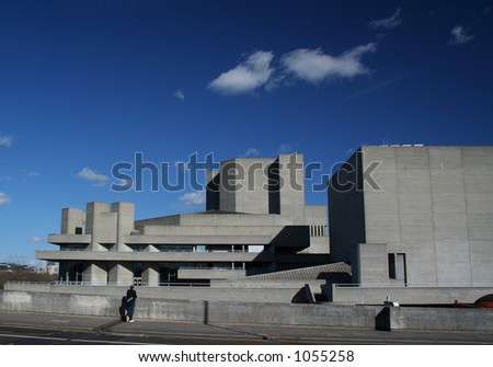 The Royal National Theatre building in London - stock photo