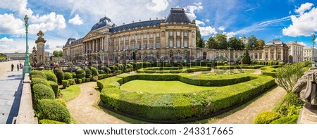 The Royal Palace in Brussels in a beautiful summer day - stock photo