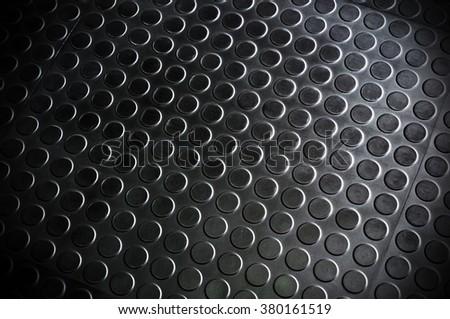 The rubber floor. dark tone background. - stock photo