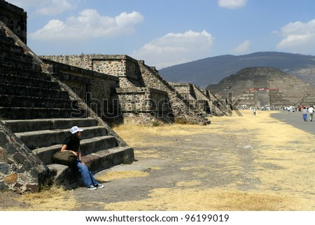 the ruin of Teotihuac�¡n - Mexico City, Mexico - stock photo