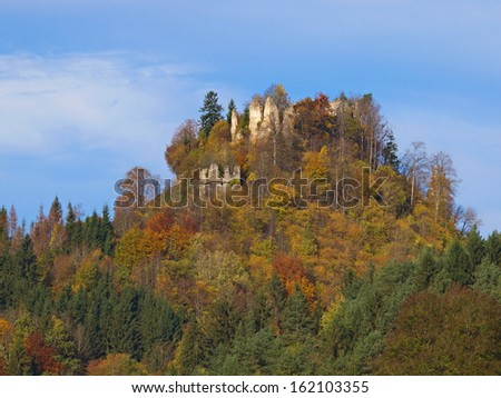 The ruin of the castle Waisenberg in Carinthia / Austria