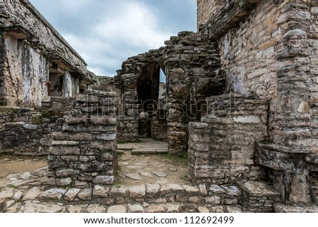 The ruins in Palenque, Mexico - stock photo