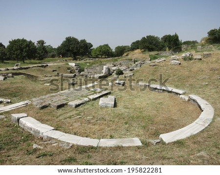The Ruins of Ancient Troy, Turkey - stock photo
