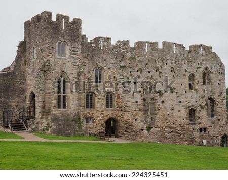 The ruins of Chepstow Castle, Wales - stock photo