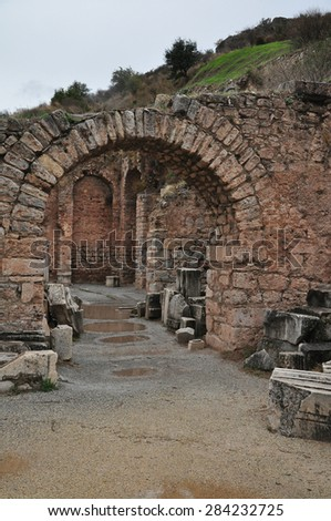 The ruins of what was an important building at Ephesus