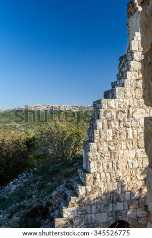 The ruins of Yehiam Fortress, National Park of Israel