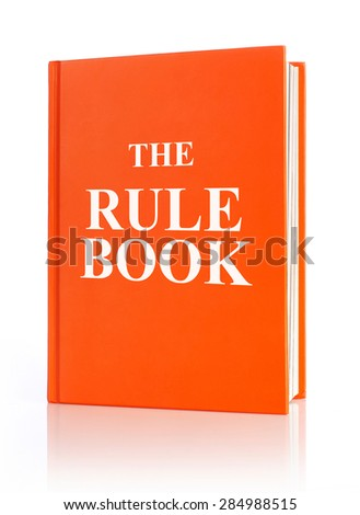 The rule book - stock photo