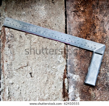 The Ruler made by steel - stock photo