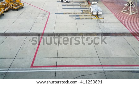 The runway in the airport