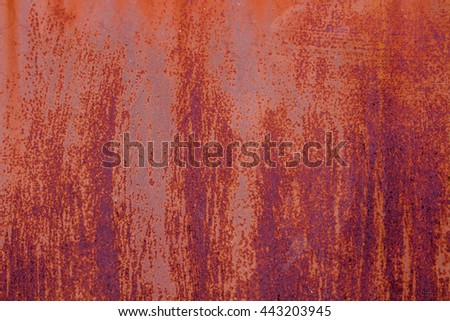 The Rust on metal surfaces for background