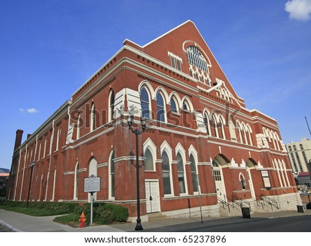 The Ryman Auditorium , the Mother Church of Country Music - stock photo