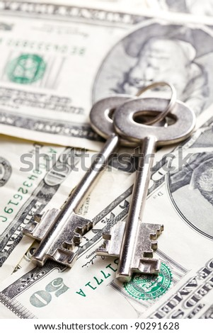 the safe key with money