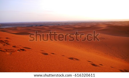 Sahara Largest Hot Desert Third Largest Stock Photo - Largest desert in the world