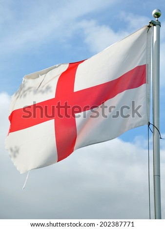 The Saint George Cross - Flag of England - stock photo